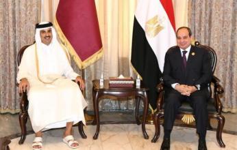 بالصور.. أمير قطر يلتقي فخامة الرئيس عبد الفتاح السيسي على هامش فعاليات قمة بغداد