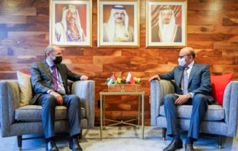 وزير الخارجية البحريني يلتقي نظيره الأردني