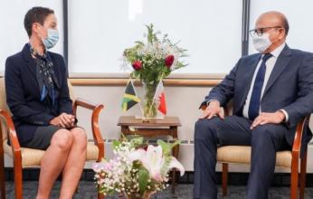 وزير الخارجية البحريني يلتقي وزيرة الخارجية في جامايكا