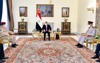 السيسي يلتقي وزير الدفاع اليمنى بالقاهرة