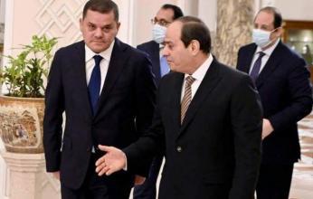قمة ثنائية بين السيسي ورئيس الحكومة الليبية بالقاهرة