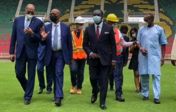"""رئيس كاف يشيد بملعب """"بول بيا"""" المستضيف لافتتاح وختام كأس أمم إفريقيا"""