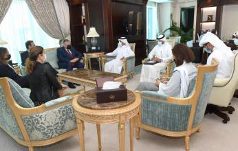 أمين عام وزارة الخارجية القطرية يجتمع مع وفد البرلمان الأوروبي