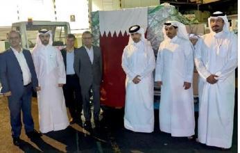 وصول طائرة قطرية تحمل مساعدات طبية عاجلة إلى إيران